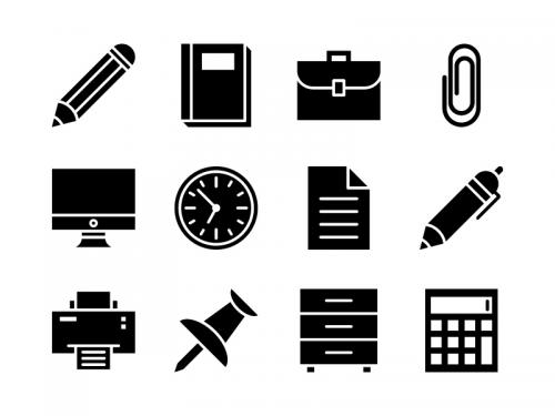 Office Icon Set Glyph - office-icon-set-glyph
