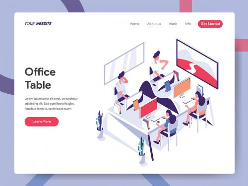 Office Table Illustration Concept - office-table-illustration-concept