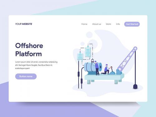 Offshore Platform Illustration - offshore-platform-illustration