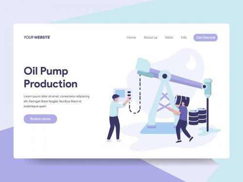 Oil Pump Production Illustration - oil-pump-production-illustration