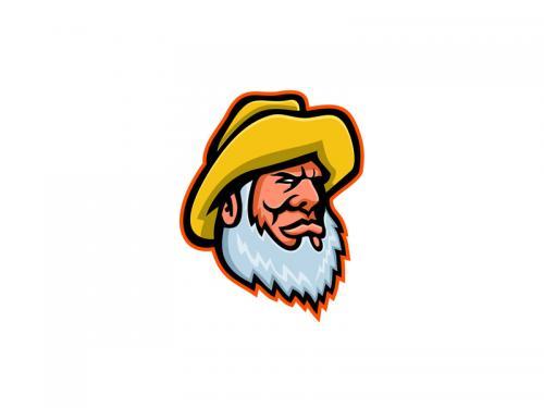 Old Fisherman or Fisher Mascot - old-fisherman-or-fisher-mascot