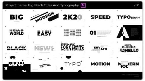 Videohive - Big Black Titles And Typography