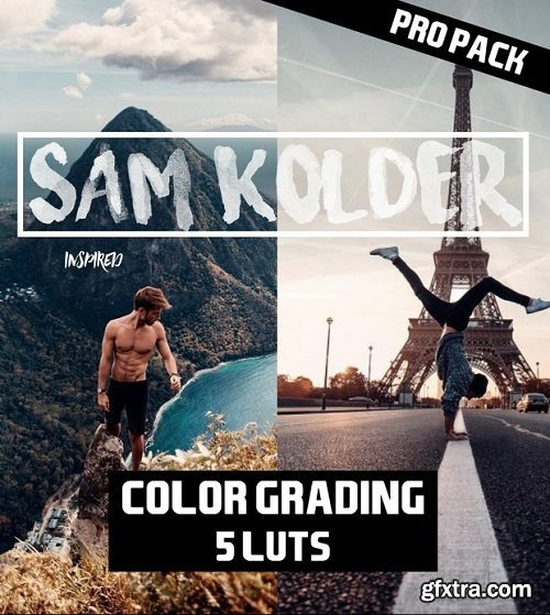 SAM KOLDER (kold) 2018 // Pro Color Grading - Lut Pack (5 luts)