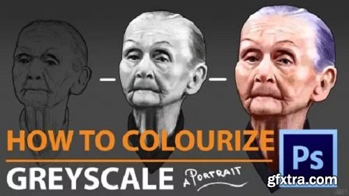 Digital Painting: Greyscale into Colour for Portrait Painting