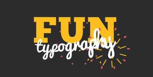 Videohive - Fun Kinetic Typography