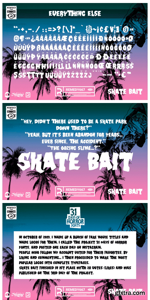 Skate Bait Font