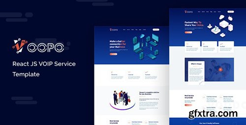 ThemeForest - Voopo v1.0 - React JS VOIP Service Template - 25555428