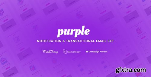ThemeForest - Purple v1.0.1 - Notification & Transactional Email Templates - 25564337