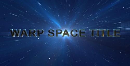 Videohive - Warp Space Title