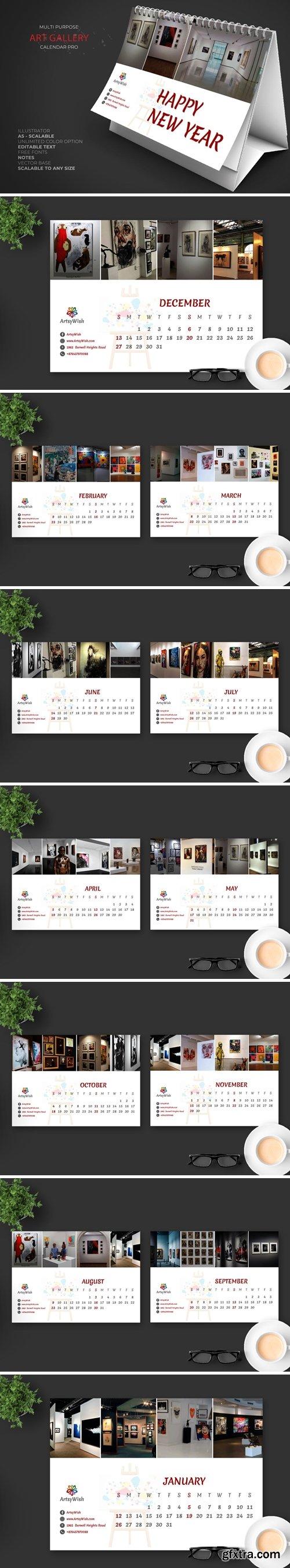 2020 Art Gallery Calendar Pro