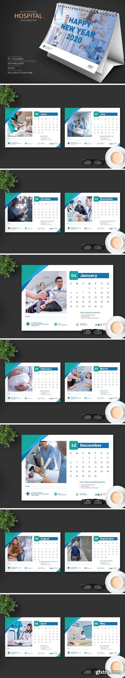 2020 Clean Hospital Calendar Pro