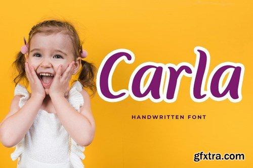 Carla Playful Handwritten Font