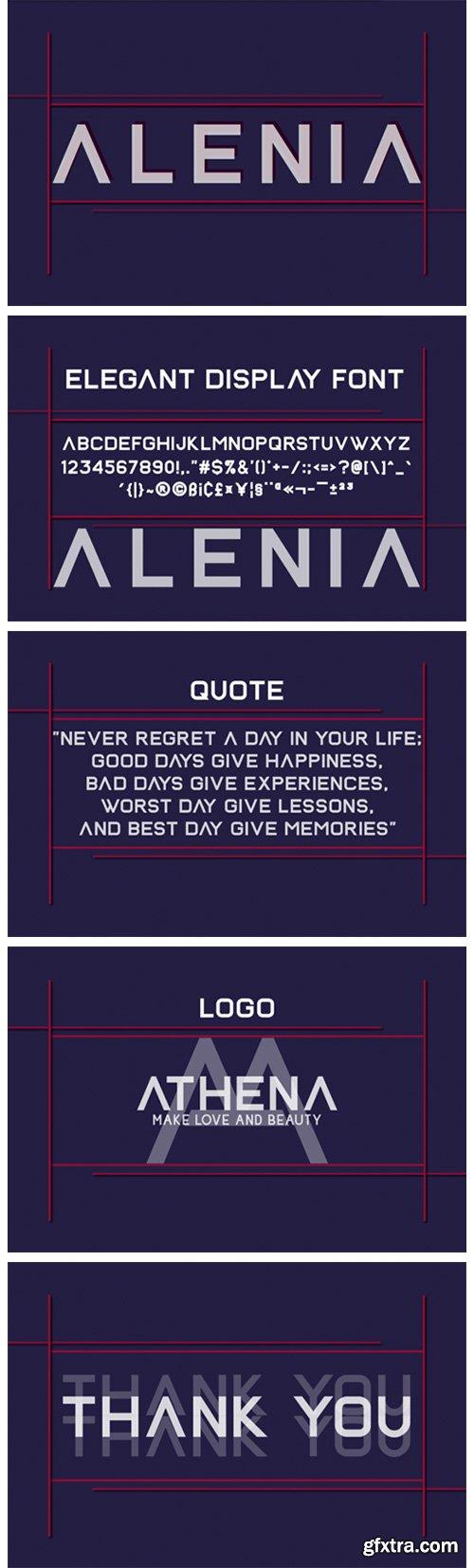 Alenia Font