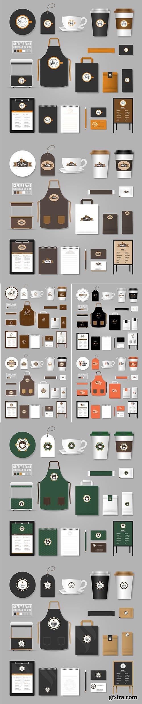 Corporate Identity Template Logo Concept Coffee Shop Cafe Restaurant