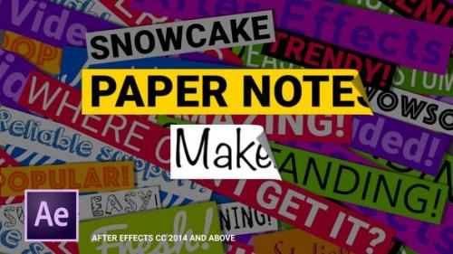 Videohive - Paper Notes Maker - Titles and Lower Thirds
