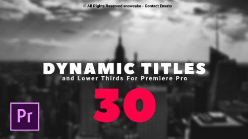 Videohive - Dynamic Titles and Lower Thirds For Premiere Pro