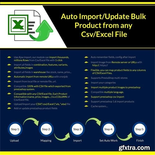 Import/Update Bulk Product from any Csv/Excel File Pro v1.0.70 - PrestaShop Module