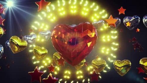 Videohive - Shiny Heart Background 4k