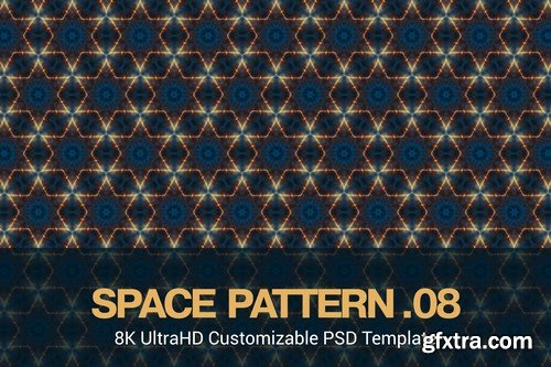 8K UltraHD Seamless Space Pattern Backgrounds Pack