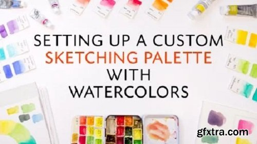 Setting up a custom sketching palette with watercolors