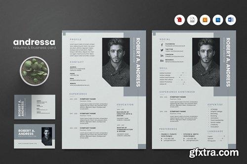 Creative CV Resume & Name Card PSD, DOCX, AI No.11