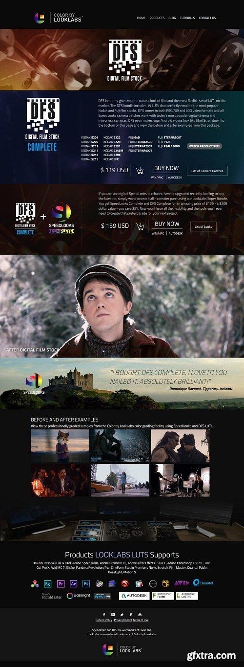 LookLabs - Digital Film Stock - 19 Film Emulation LUTs