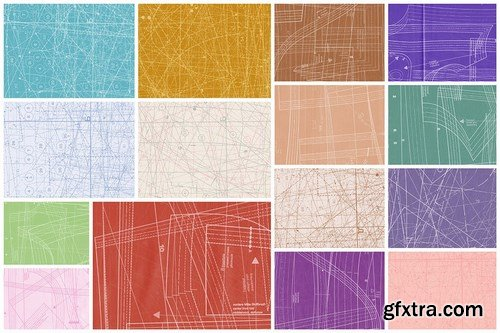 Clean Fabric Blueprint Textures 2