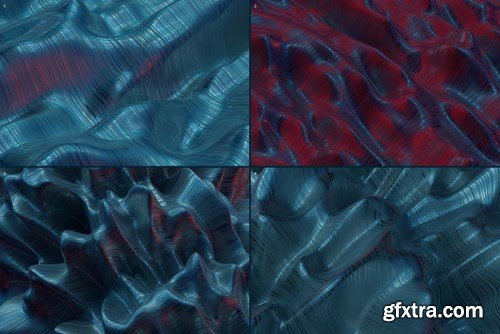 Abstract 3D Rendering of Waves