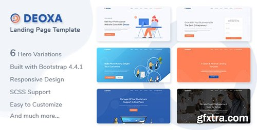 ThemeForest - Deoxa v1.0.0 - Landing Page Template - 25571748