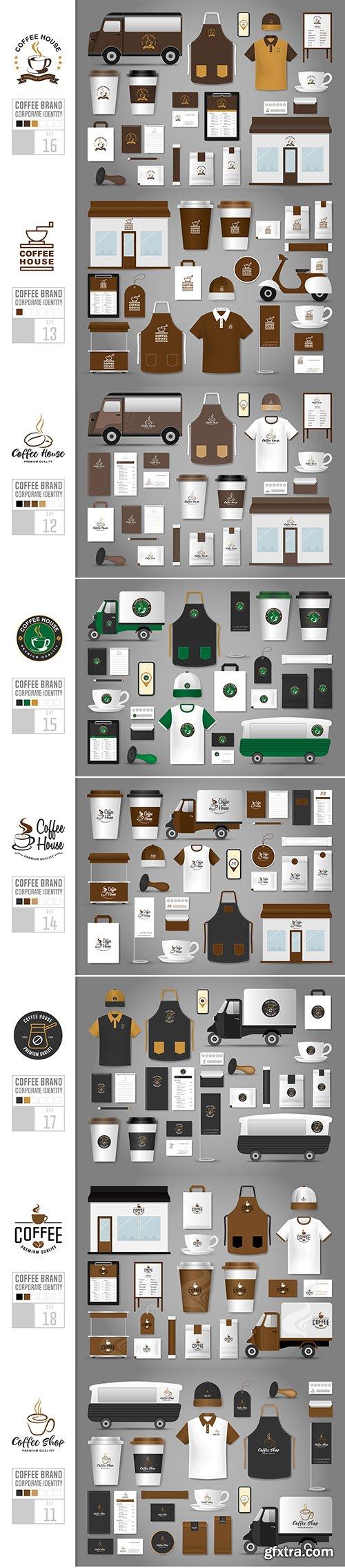 Corporate Identity Vector Template Coffee Shop Set