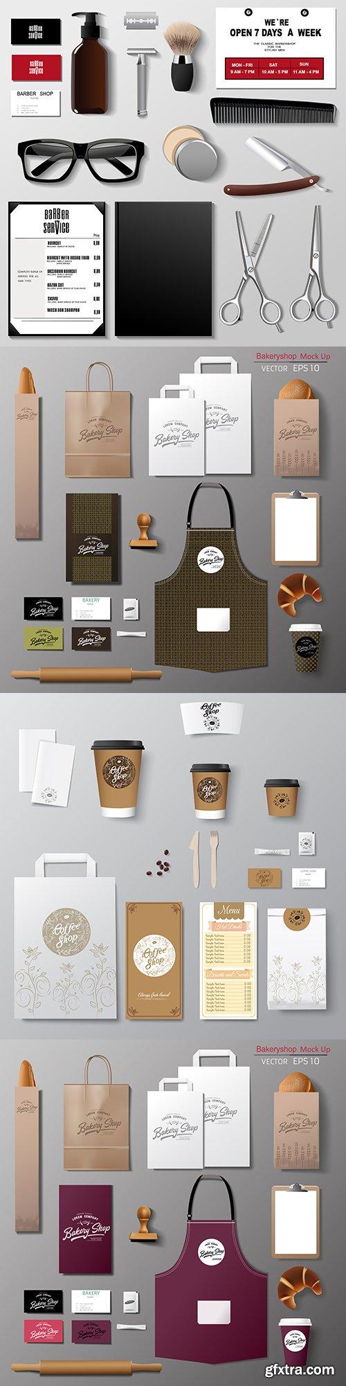 Corporate brand company design set template