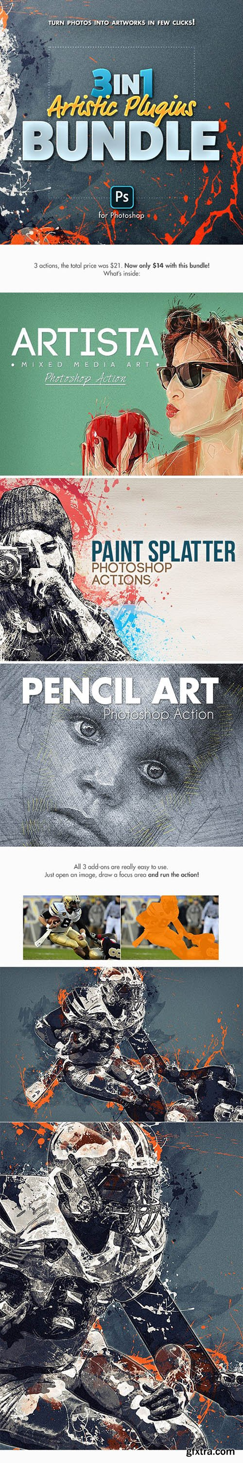 Graphicriver - 3in1 Artistic Plugins Bundle for Photoshop 25516747