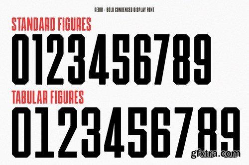 CM - Redig - Bold condensed display font 4496036