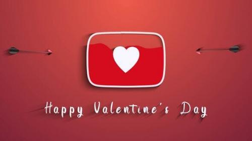 Videohive - Valentine's Day (Youtube Logo)
