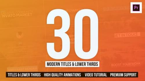 Videohive - 30 Modern Titles & Lower Thirds - Mogrt