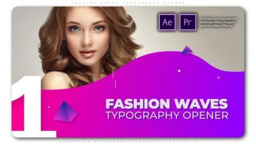 Videohive - Fashion Waves Typography Opener