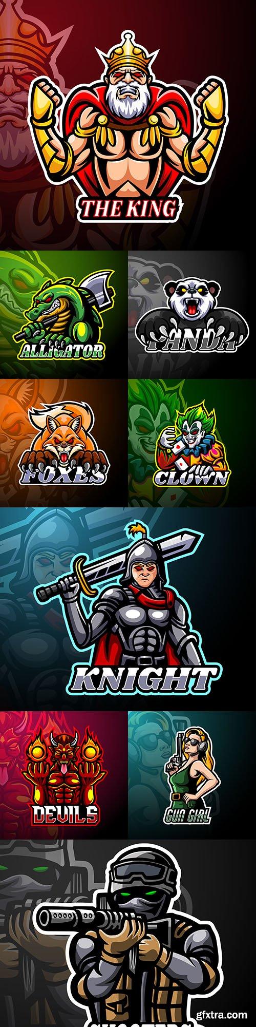 Cybersport mascot design logo illustration 12