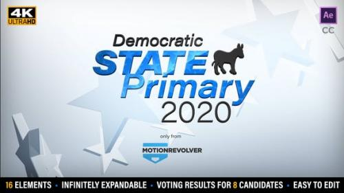 Videohive - State Primary or Caucus Election Results Kit
