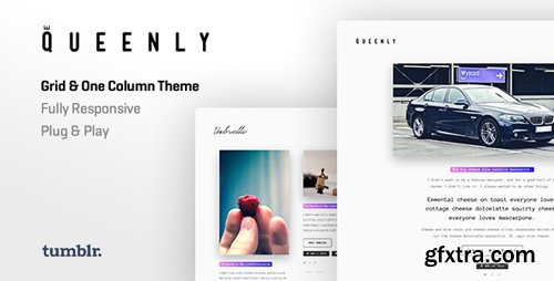 ThemeForest - Queenly v1.0.5 - Grid & One Column Tumblr Themes - 13813968