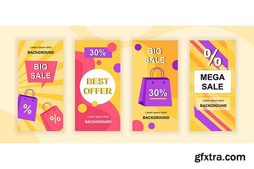 Mega Sale Instagram Stories Social Media Template