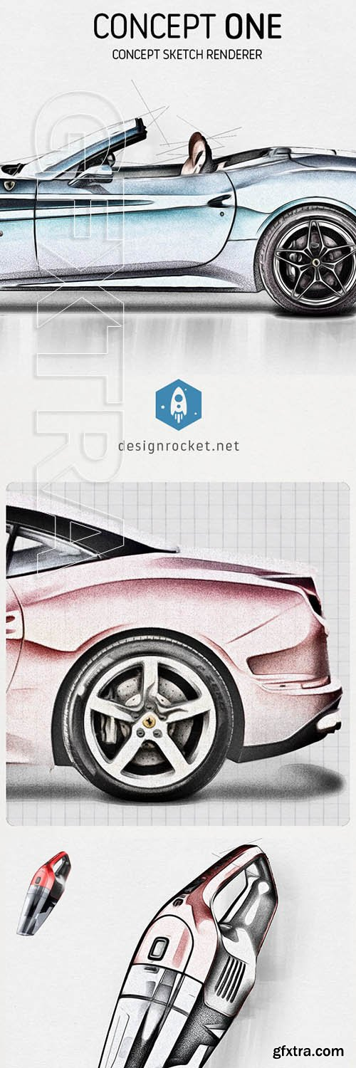 GraphicRiver - Concept One - Concept Sketch Renderer Action 25268416
