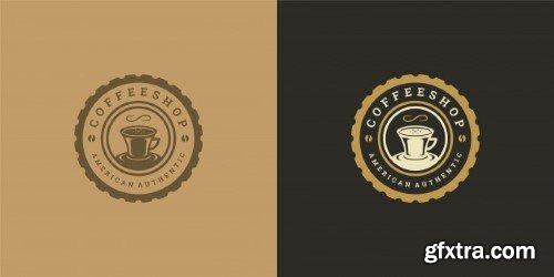 Coffee or tea shop logo
