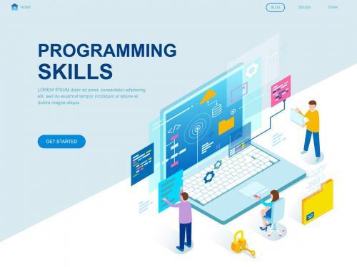 Programming Skills Isometric Landing Page Template - programming-skills-isometric-landing-page-template-73d5d97c-2bd0-416a-af1d-55fa3d928b49