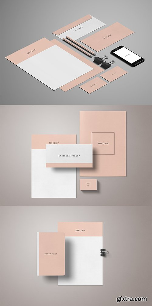Minimal Stationery PSD Mockup Set