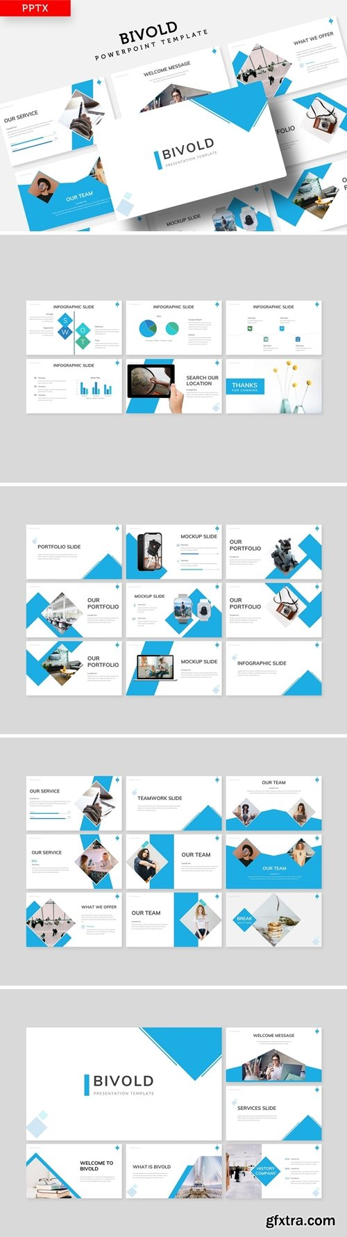 Bivold Powerpoint, Keynote and Google Slides Templates