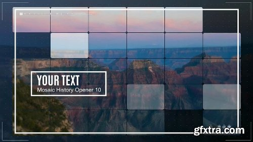 Videohive Mosaic History Opener 19569695