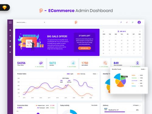 Promotial - ECommerce Admin Dashboard UI Kit (SKETCH) - promotial-ecommerce-admin-dashboard-ui-kit-sketch
