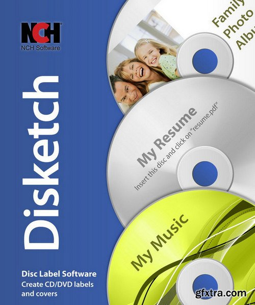 NCH Disketch Disc Label 6.00