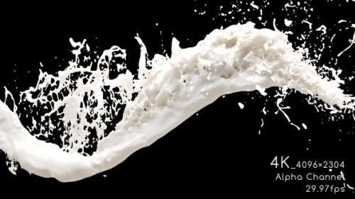 Videohive - Milk Flow 4K
