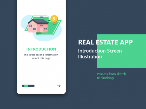 Real Estate App Introduction Screen - real-estate-app-introduction-screen